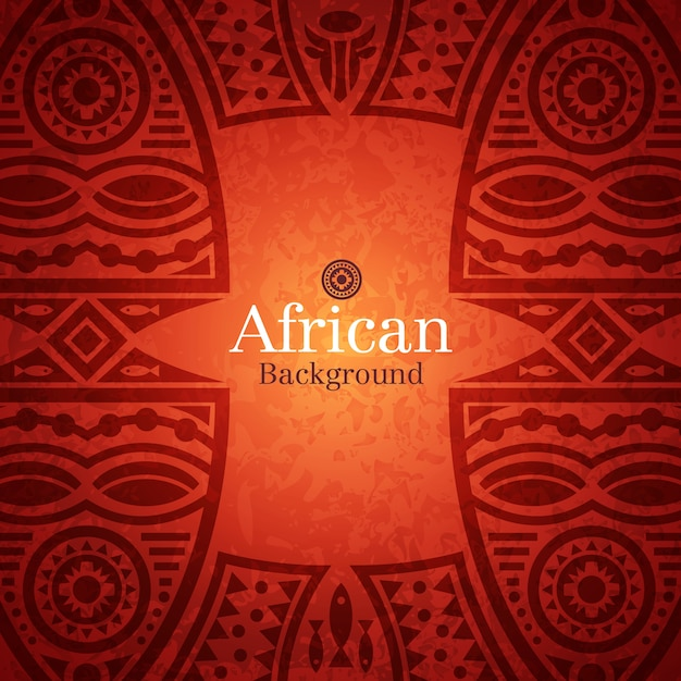 Fondo tradicional africano Vector Premium