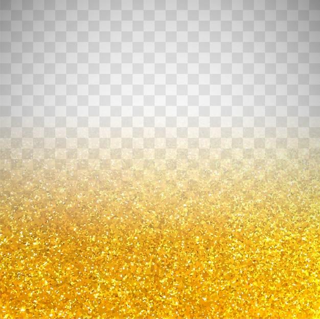 Fondo transparente de resplandecer dorado Vector Gratis