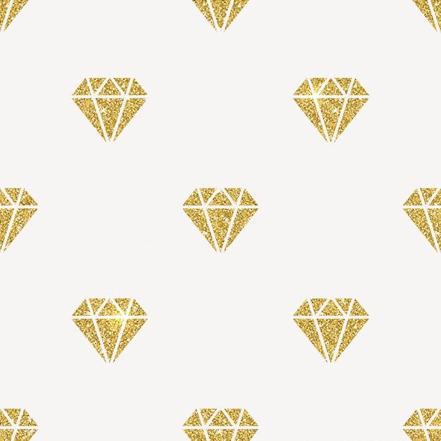 Fondo transparente - diamantes de oro brillo. Vector Premium