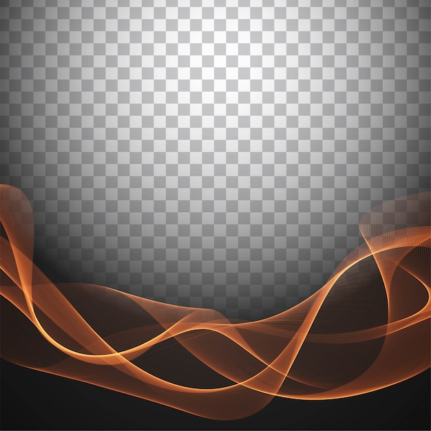 Fondo transparente con estilo abstracto de la onda vector gratuito