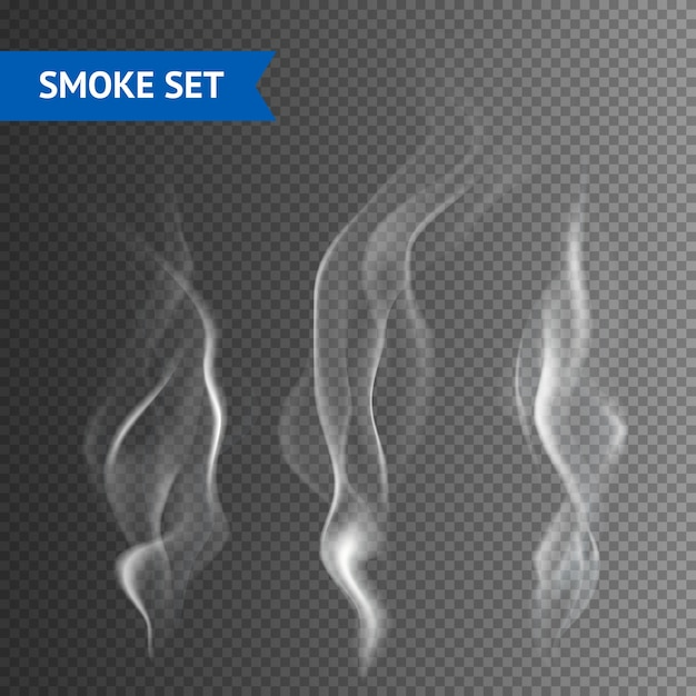 Fondo transparente de humo vector gratuito