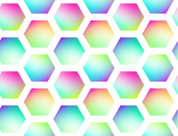 Fondo transparente de vector geométrico holográfico Vector Premium