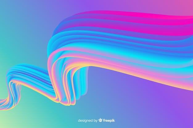 Fondo de trazo de pincel holográfico colorido vector gratuito