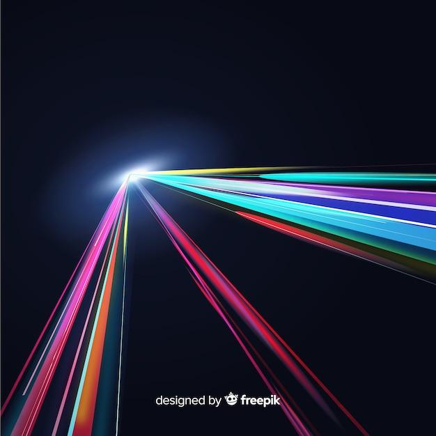 Fondo de trazos de luz vector gratuito