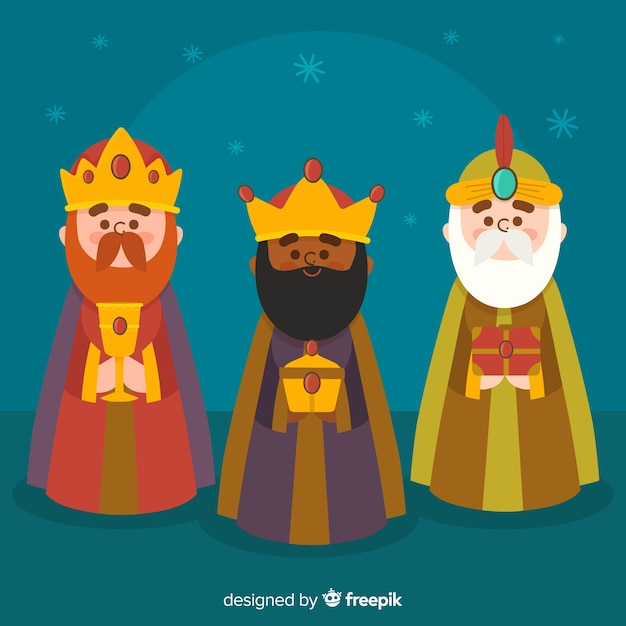 Imagenes Tres Reyes Magos Gratis.Fondo De Los Tres Reyes Magos Descargar Vectores Gratis