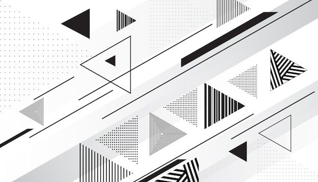 Fondo triangular abstracto vector gratuito