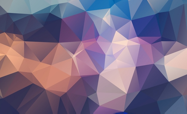 Fondo triangular geométrico bajo poli Vector Premium