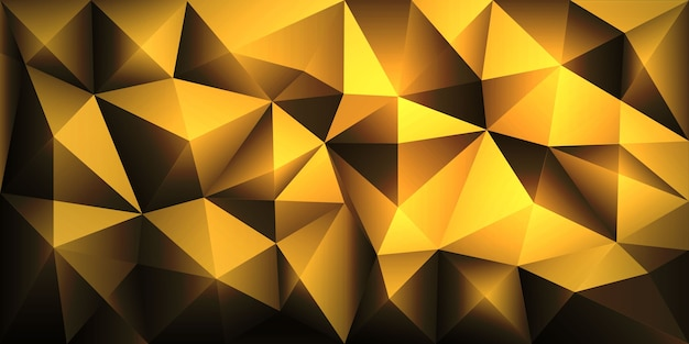 Fondo de triángulo geométrico poligonal abstracto polígono Vector Premium
