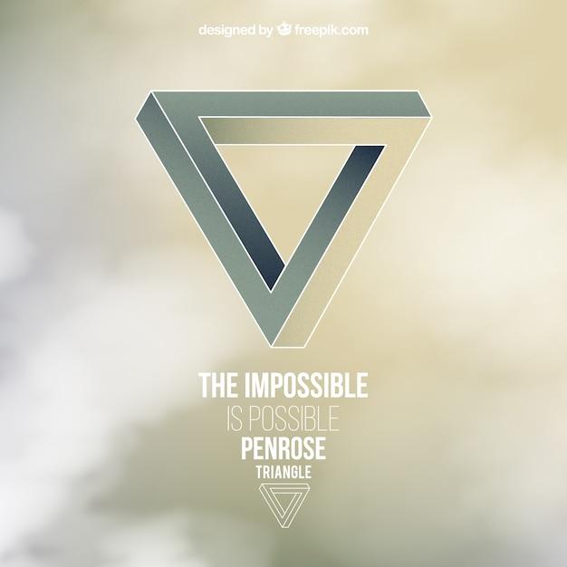 Fondo del triángulo imposible Vector Premium