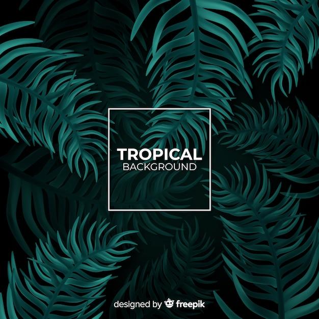 Fondo tropical realista vector gratuito