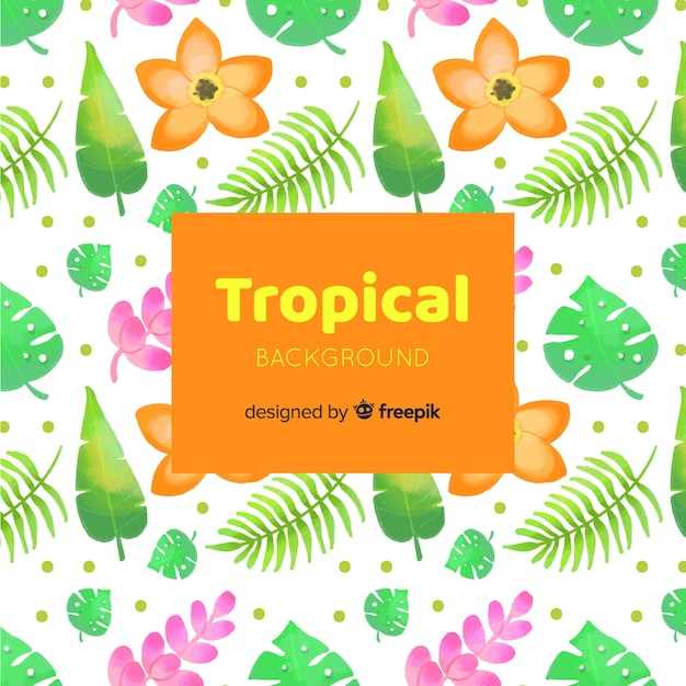 Fondo tropical vector gratuito