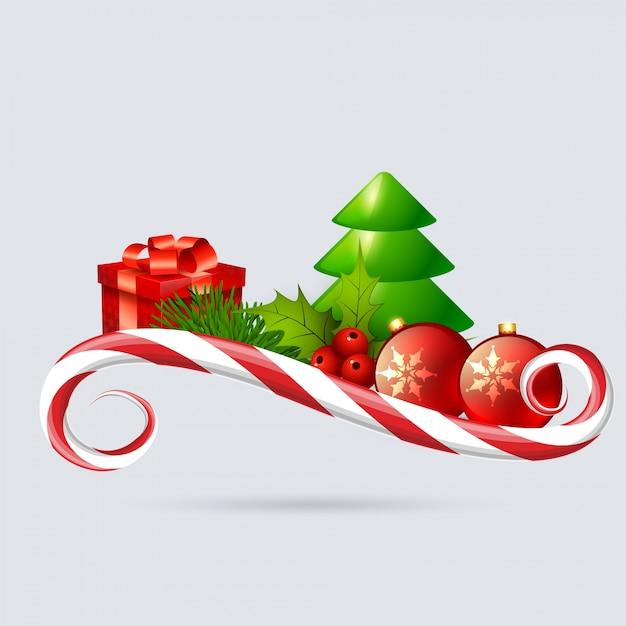 Fondo de vacaciones de navidad Vector Premium