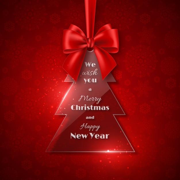 Fondo de vacaciones de navidad. Vector Premium