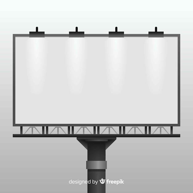 Fondo valla publicitaria realista vector gratuito