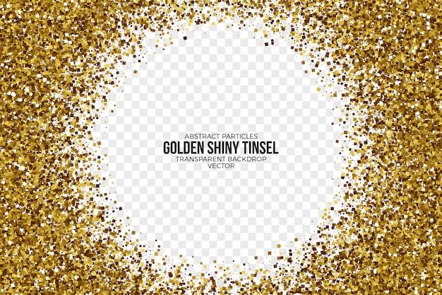 Fondo de vector abstracto de oro brillante oropel Vector Premium