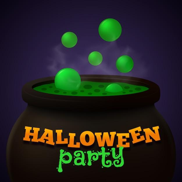 Fondo de vector de fiesta de halloween Vector Premium