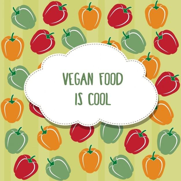 Fondo vegano colorido vector gratuito