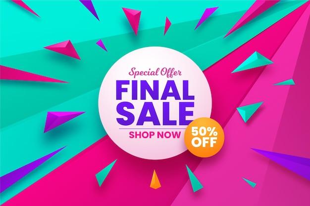 Fondo de venta final con oferta vector gratuito