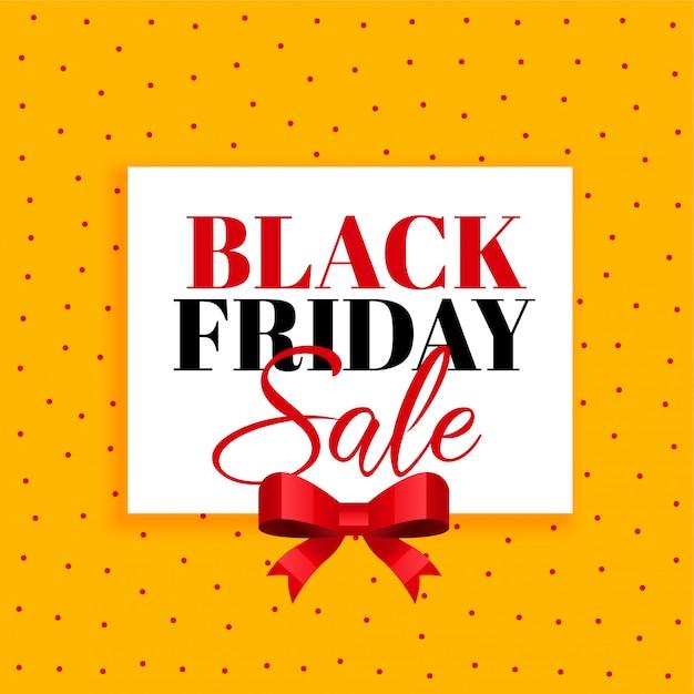 Fondo de venta de viernes negro con cinta roja vector gratuito