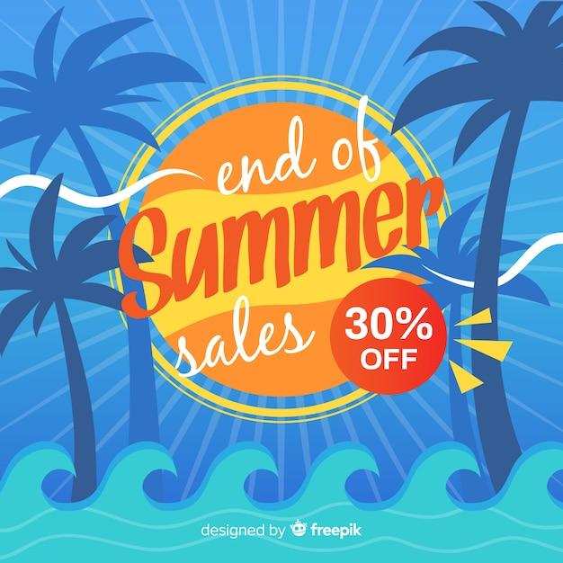Fondo de ventas de fin de verano vector gratuito