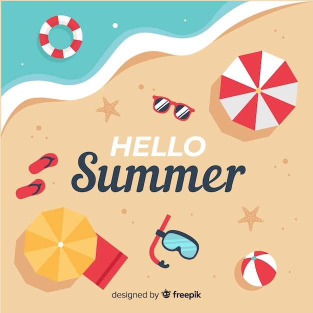 5b45baebe Fondo de verano en diseño plano | Descargar Vectores gratis