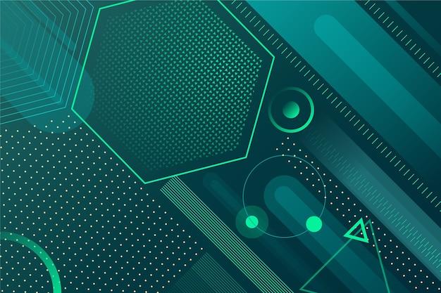 Fondo verde abstracto geométrico vector gratuito