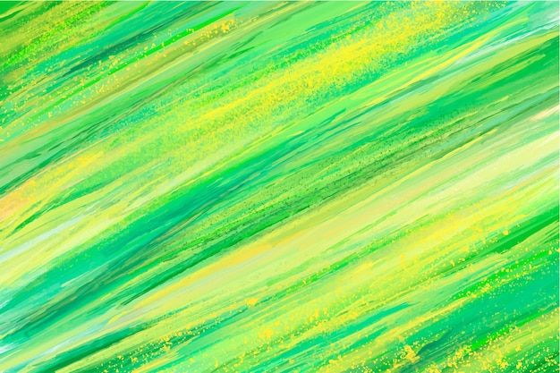 Fondo verde pintado a mano abstracto vector gratuito
