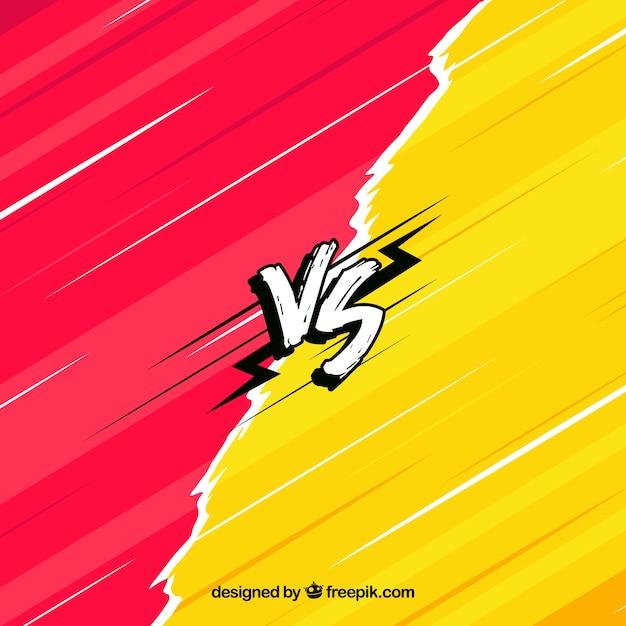 Fondo de versus con estilo de dibujo a mano vector gratuito