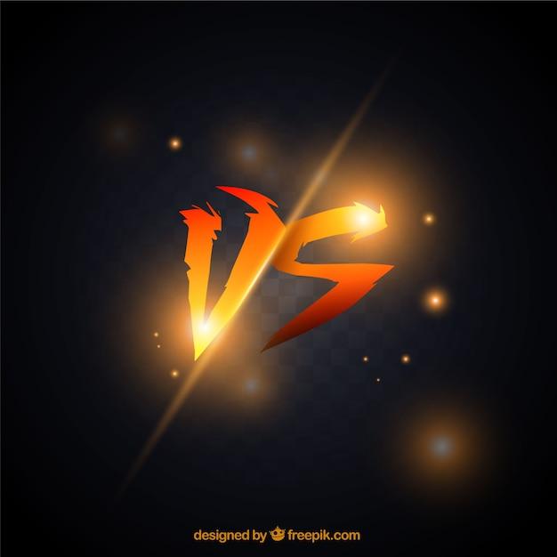 Fondo de versus naranja vector gratuito