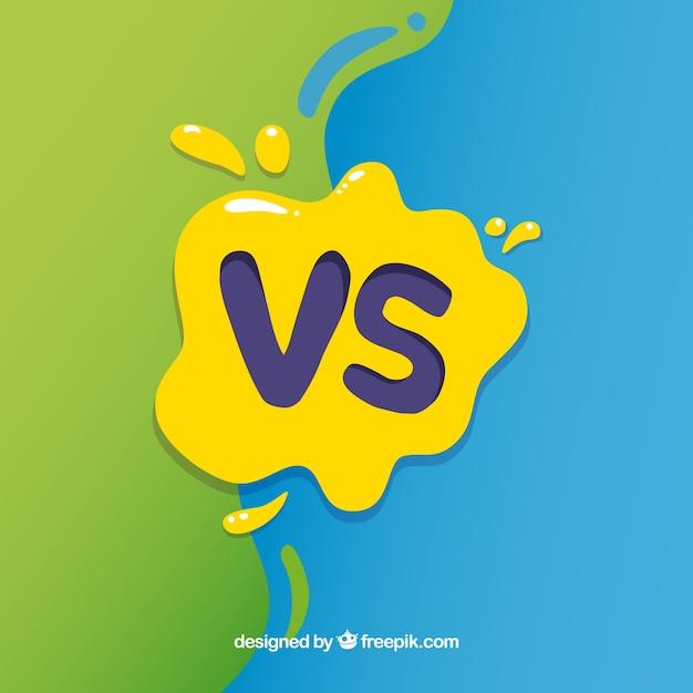 Fondo de versus con salpicadura de pintura vector gratuito
