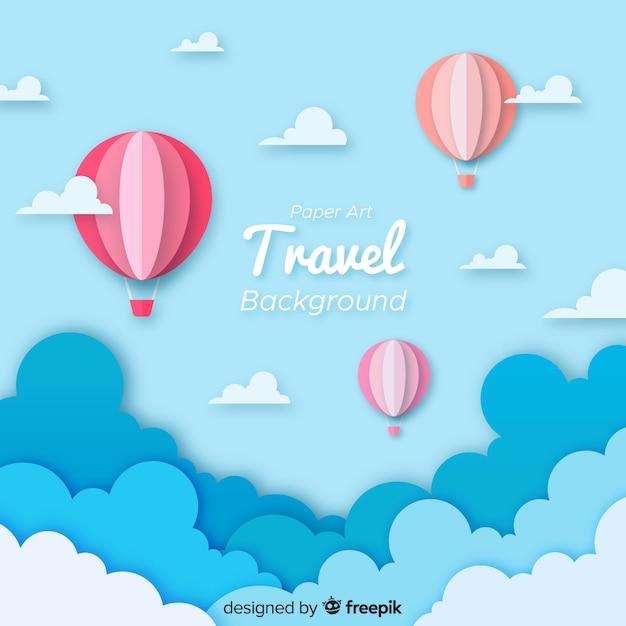 Fondo de viaje vector gratuito