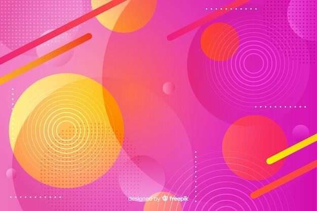 Fondo vibrante con formas geométricas. vector gratuito