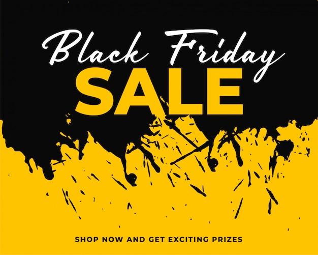 Fondo de viernes negro de salpicaduras de tinta abstracta vector gratuito