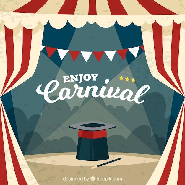 Fondo vintage de carnaval Vector Premium