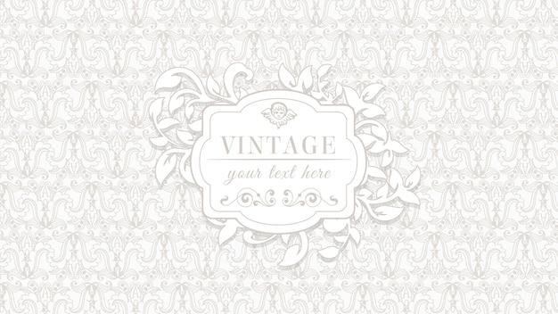 Fondo vintage ornamental vector gratuito