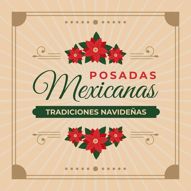 Fondo vintage posadas mexicanas vector gratuito