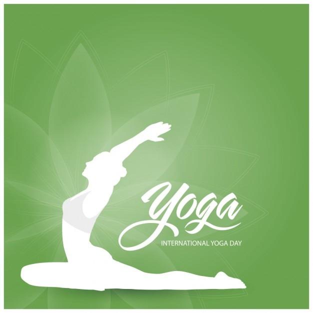 Fondo de yoga verde vector gratuito