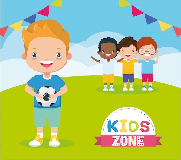 Fondo de zona infantil vector gratuito