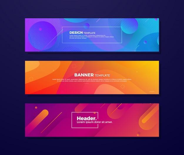 Fondos fluidos con diferentes conceptos y colores. Vector Premium