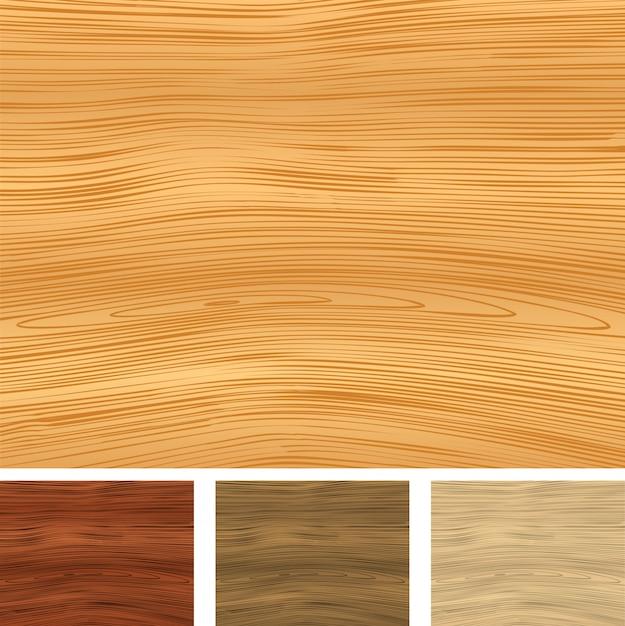 Fondos de madera Vector Premium