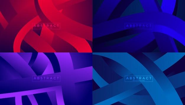 Fondos de movimiento de flujo de onda abstracta Vector Premium