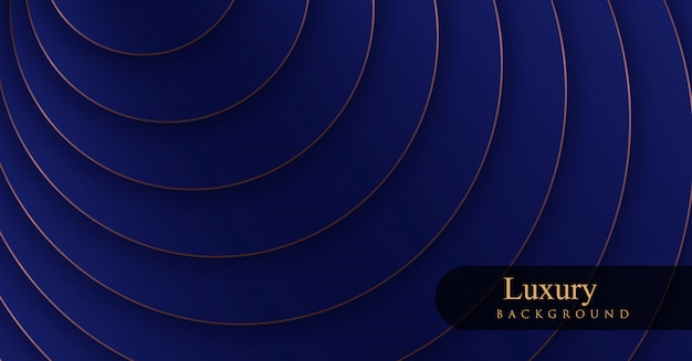 Fondos de oro y azul real de lujo Vector Premium