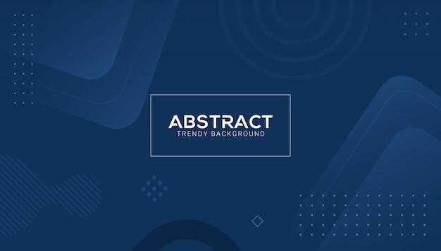 Forma abstracta azul clásica geométrica Vector Premium