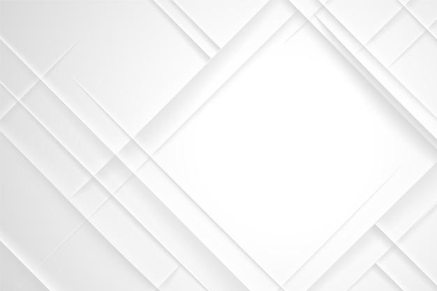 Forma de diamante fondo abstracto blanco vector gratuito