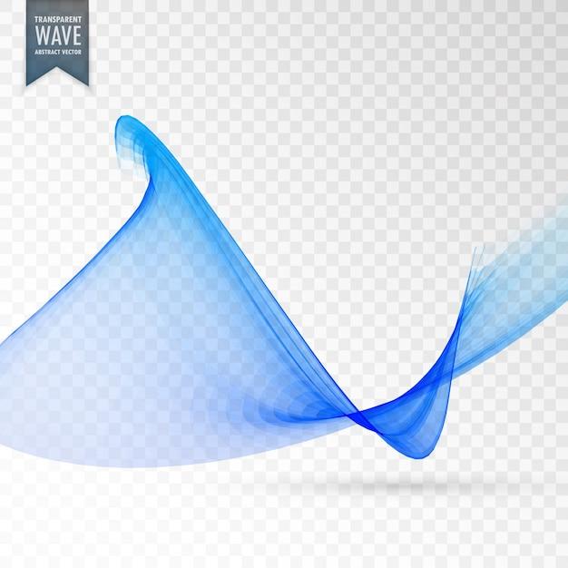 11c83a5d5483e Forma ondulada moderna azul sobre fondo transparente