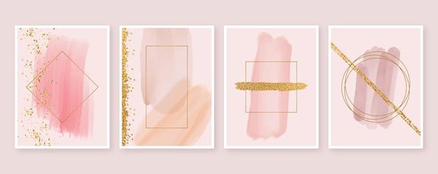 Formas abstractas de acuarela cubre estilo vector gratuito