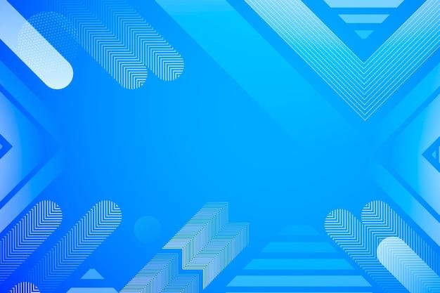 Formas abstractas de fondo azul de semitono Vector Premium