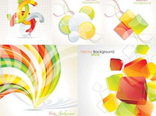 Formas Abstractas Geométricas De Colores Fondos