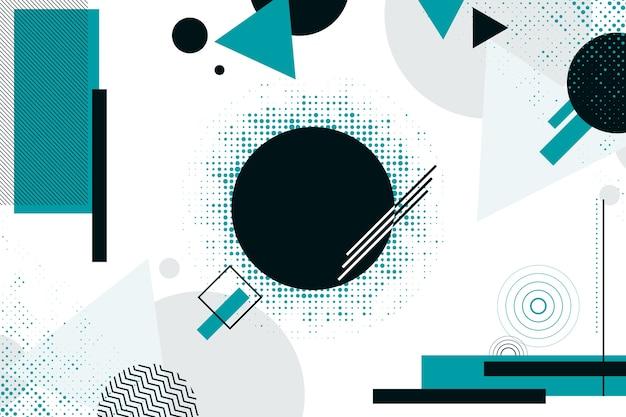 Formas azules y negras sobre fondo geométrico vector gratuito