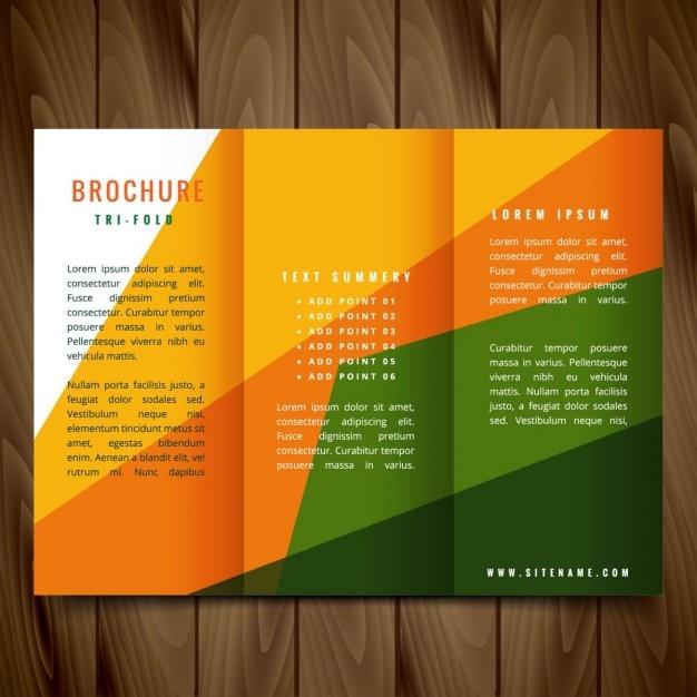 formas de colores vector tr u00edptico dise u00f1o de folletos